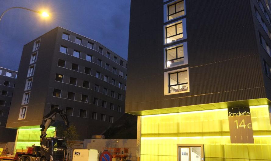 Konferenz und Besuch der Baustelle von Apartis in Freiburg