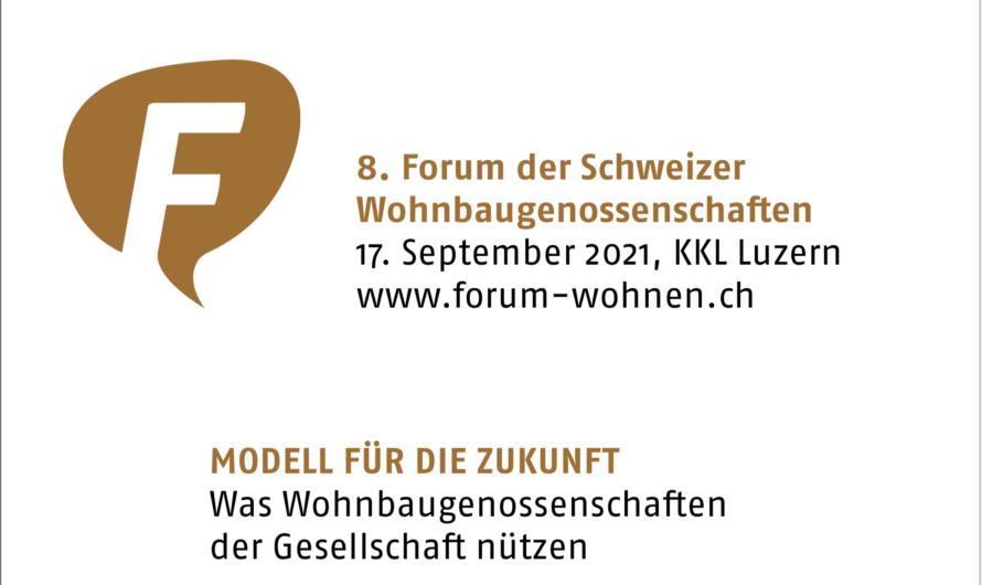 8. Forum der Schweizer Wohnbaugenossenschaften