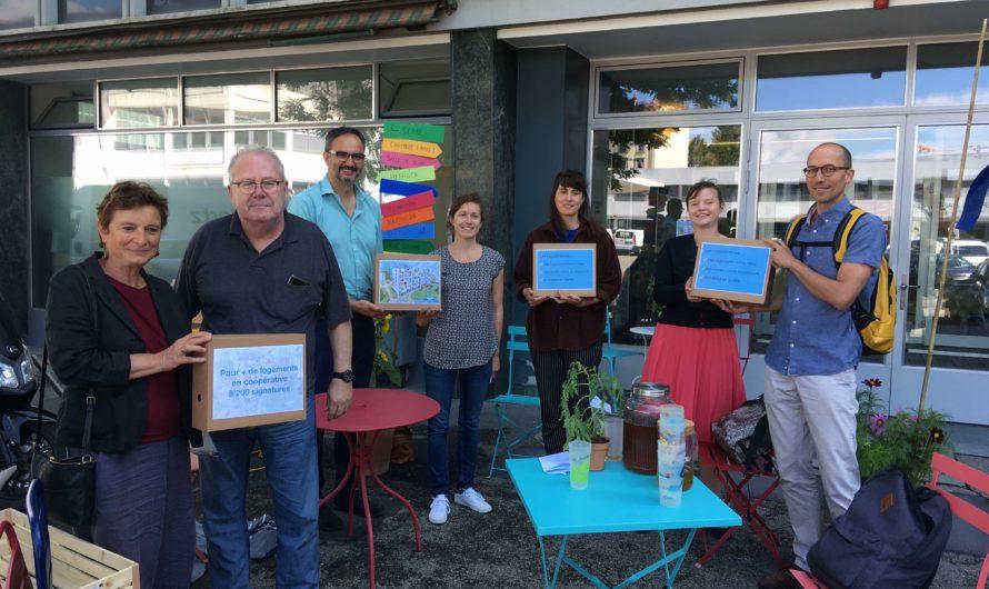 Plus de 8'000 signatures pour plus de logements en coopérative à Genève